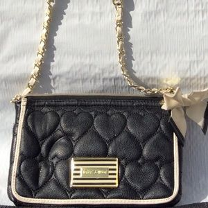 Betsy Johnson quilted crossbody purse